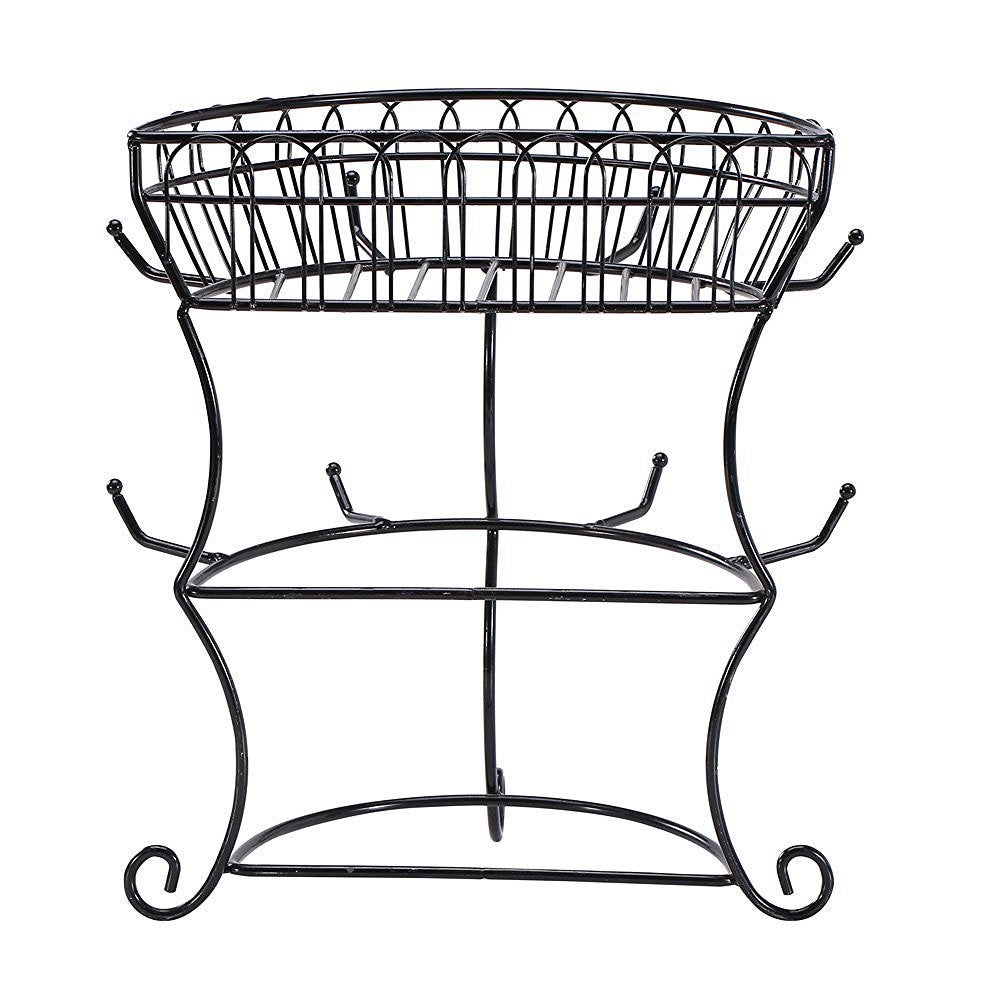 Ikee Design Black Metal Wire Cupholder Tree With 8 Hooks ...