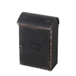 Privilege Antique Black Faux-leather Mailbox