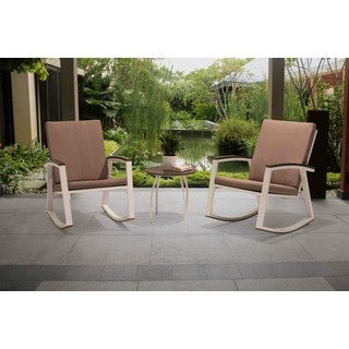 Sunjoy Rosie Rocker Set Made from Aluminum and Polywood