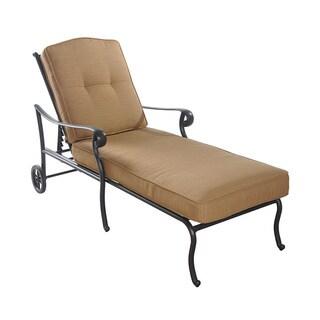 Sunjoy Largemont Chaise Made of Aluminum and Sunbrella Fabric