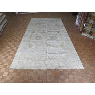Oushak Oriental Beige Wool Hand-knotted Area Rug (9'3 x 17'9)