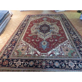 Rust Red Wool Hand-knotted Serapi Heriz Oriental Rug (11'11 x 17'10)