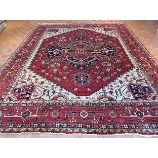 Serapi Heriz Brick Red Wool Hand-knotted Oriental Rug (12' x 14'11)