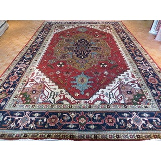 Serapi Heriz Rust Red Hand-knotted Wool Oriental Rug (12 x 17'10)