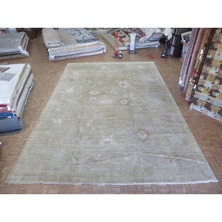Hand Knotted Camel Oushak with Wool Oriental Rug (13'10 x 19'11)