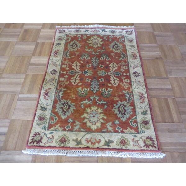 Hand Knotted Heriz Wool Fine Persian Oriental Area Rug: Shop Serapi Heriz Oriental Burnt Orange Wool Hand-knotted