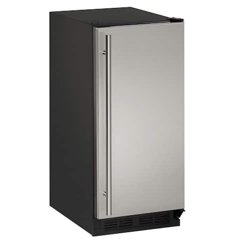 U-Line 1000 Series 1215 - 15 Inch Stainless Steel Clear Ice Machine w/ out Pump