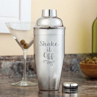 Shake It Off Silvertone Metal Drink Shaker
