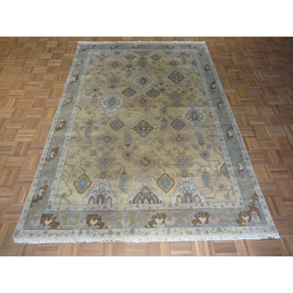 Shop Beige Wool Hand Knotted Oriental Persian Area Rug 6: Shop Fine Turkish Oushak Beige Wool Hand-knotted Oriental