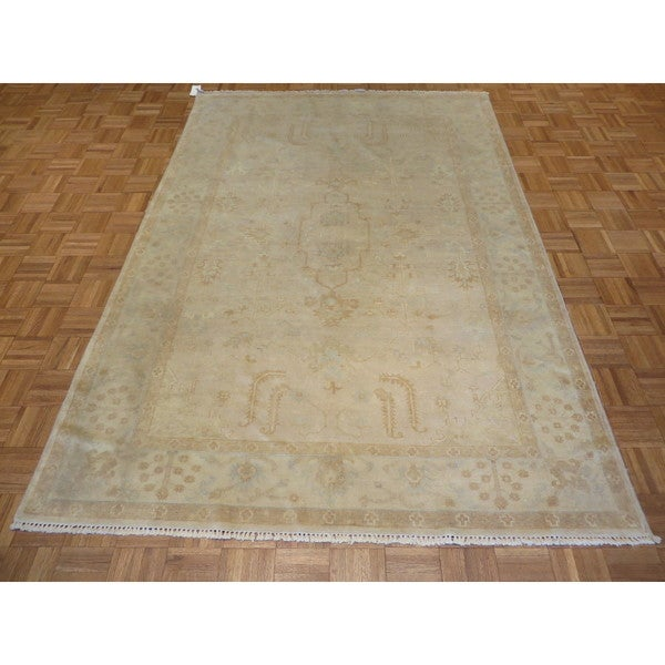 Shop Beige Wool Hand Knotted Oriental Persian Area Rug 6: Shop Fine Turkish Oushak Oriental Beige Wool Hand-knotted