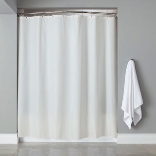"Vinyl Shower Curtain Liner With 12-piece Chrome Roller Hook Set - 70""l x 72""w (More options available)"