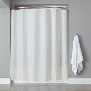 Vinyl Shower Curtain Liner With 12-piece Chrome Roller Hook Set