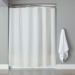 Vinyl Shower Curtain Liner With 12 Piece Chrome Roller Hook Set