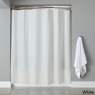 "Vinyl Shower Curtain Liner With 12-piece Chrome Roller Hook Set - 70""l x 72""w"