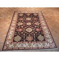 Kazak Brown Wool Hand-knotted Oriental Rug - 5'10 x 8'3