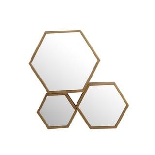 Privilege 3 Octagon Gold-finish Iron Mirror
