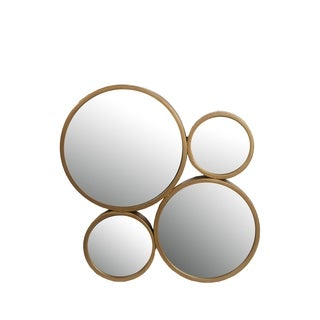 Privilege Gold-tone Finish Iron 4 Cirlcle Mirror