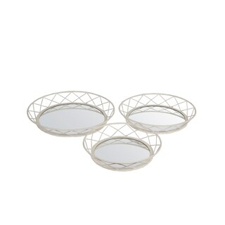 Privilege Silvertone Iron Mirrors (Pack of 3)