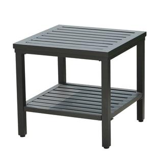 Sunjoy Sumpter Black Aluminum 18-inch Side Table