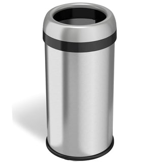 Halo Stainless Steel 16-gallon Dual-Deodorizer Round Open-top Trash Can