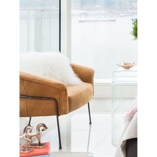 Ramsey Beige Leather Arm Chair
