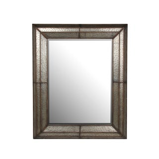 Privilege Grey Metal Wall Mirror
