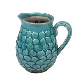 Privilege Blue Ceramic Large Pitcher