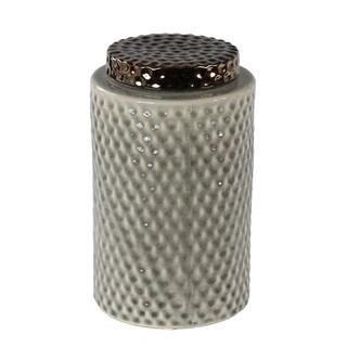 Privilege Grey Ceramic Large Lidded Vase