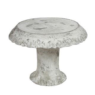 Privilege Large Cement Grey Ceramic Cake Plate
