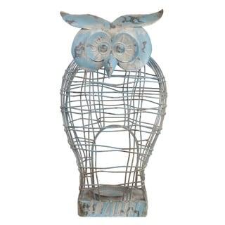 Privilege Blue Iron Owl Figurine