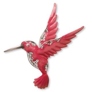 National Tree Company Pink Metal Bird Wall Decoration