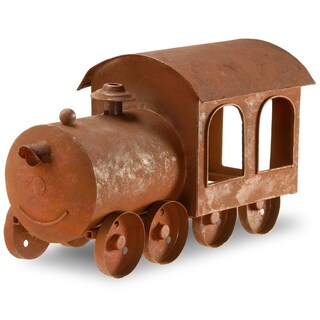 National Tree Company Brown Iron Train Candle Holder