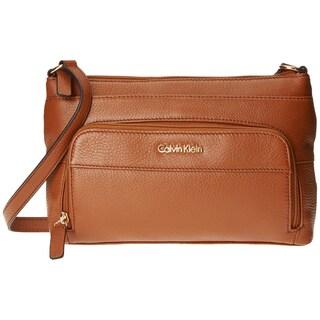 Calvin Klein Pebble Luggage Brown Crossbody Handbag