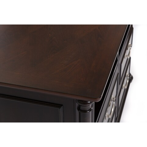St Ives Chocolate and Cherry Two Drawer Lateral File