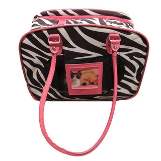 L C Puppy Ro Zebra Stripe Multicolor Nylon Pet Carrier