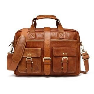 Vicenzo Leather Raiders Columbia Rugged Vintage Leather Messenger Bag