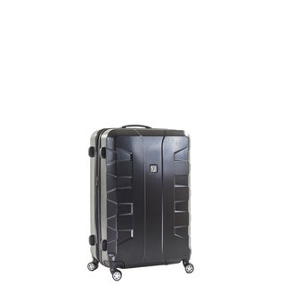 Ful Laguna 21-inch Upright Hard Case, Black Spinner Rolling Luggage Suitcase
