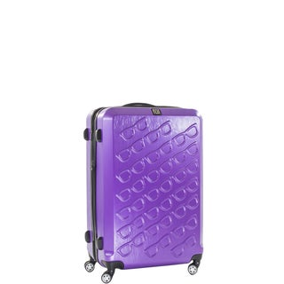 Ful Sunglasses 21-inch Hard Case, Upright, Purple Spinner Rolling Luggage Suitcase