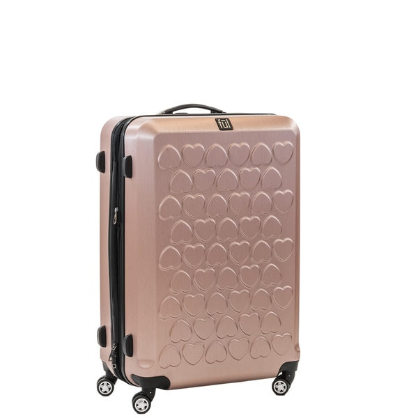 Ful Hearts 21-inch Hard Case, Upright, Gold Spinner Rolling ...