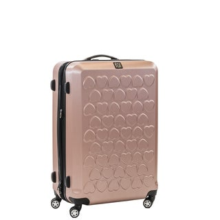 Ful Hearts 21-inch Hard Case, Upright, Gold Spinner Rolling Luggage Suitcase
