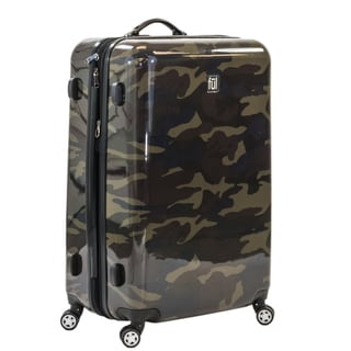 Ful Ridgeline 20-inch Upright Hard Case, Camo Spinner Rolling Luggage Suitcase