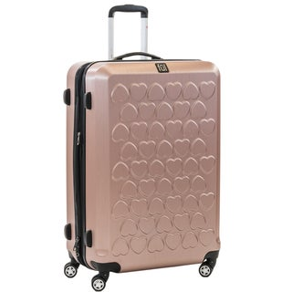 Ful Hearts 29-inch Hard Case, Upright, Gold Spinner Rolling Luggage Suitcase