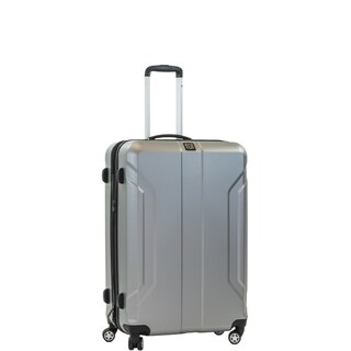 Ful Payload 25-inch ABS Plastic Hard Case Silver Upright Spinner Rolling Luggage Suitcase