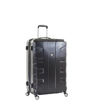 Ful Laguna 25-inch Upright Hard Case, Black Spinner Rolling Luggage Suitcase