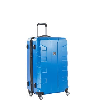Ful Laguna 25-inch Upright Hard Case, Blue Spinner Rolling Luggage Suitcase
