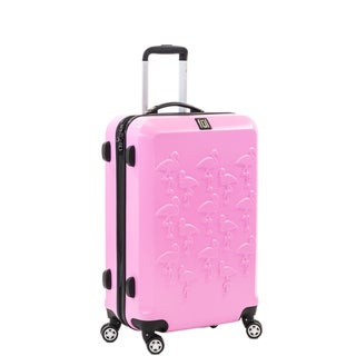 Ful Pink Flamingo 25-inch Molded Hardside Spinner Suitcase