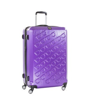 Ful Sunglasses 25-inch Hard Case, Upright, Purple Spinner Rolling Luggage Suitcase