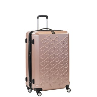 Ful Sunglasses 25-inch Hard Case, Upright, Gold Spinner Rolling Luggage Suitcase