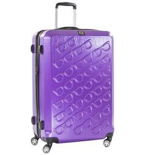 Ful Sunglasses 29-inch Hard Case, Upright, Purple Spinner Rolling Luggage Suitcase