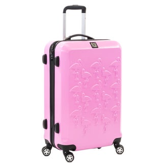 Ful Flamingo 29-inch Hard Case, Upright, Pink Spinner Rolling Luggage Suitcase